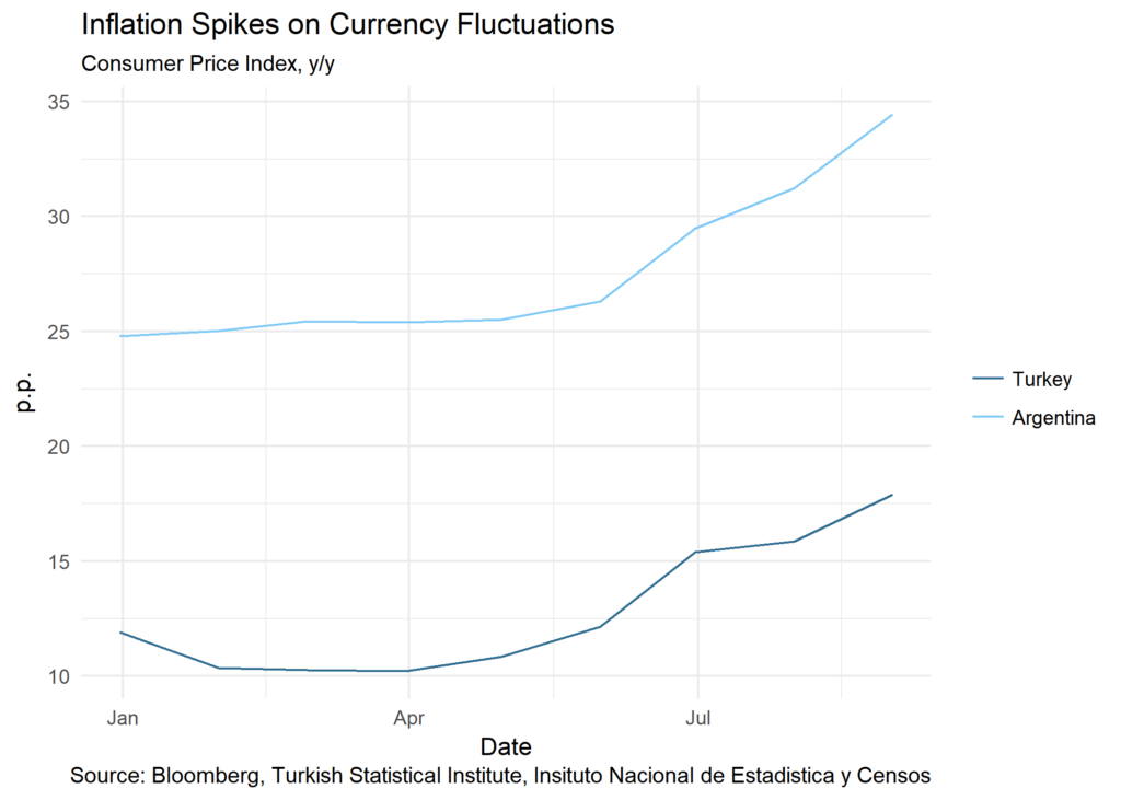 Inflation Spikes on Currency Fluctuations chart