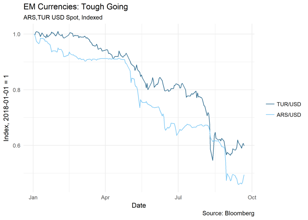 EM Currencies: Tough Going chart
